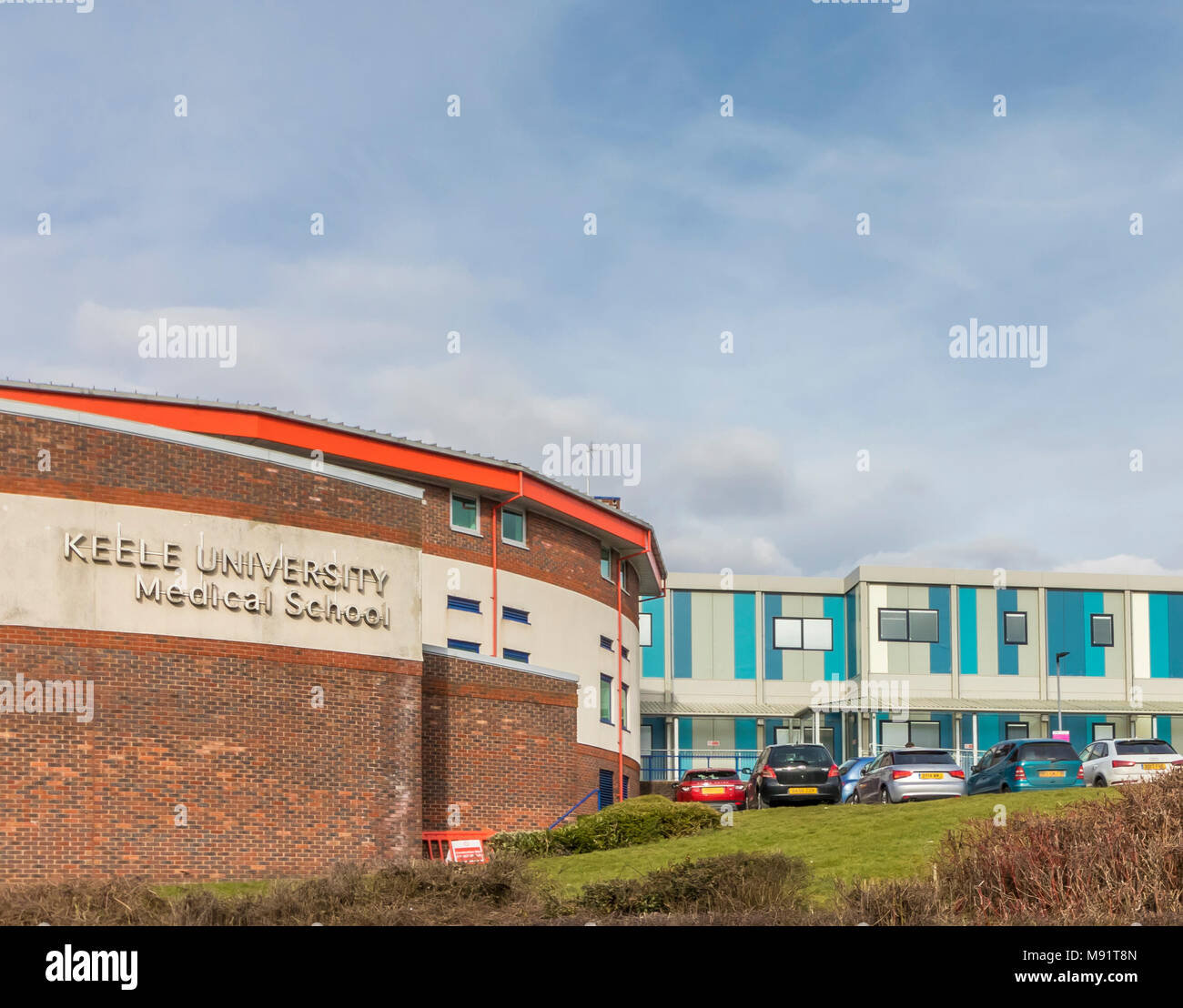 The Keele University Medical School Building attached to and on the site of the NHS Royal Stoke University Hospital in Staffordshire - Stock Image
