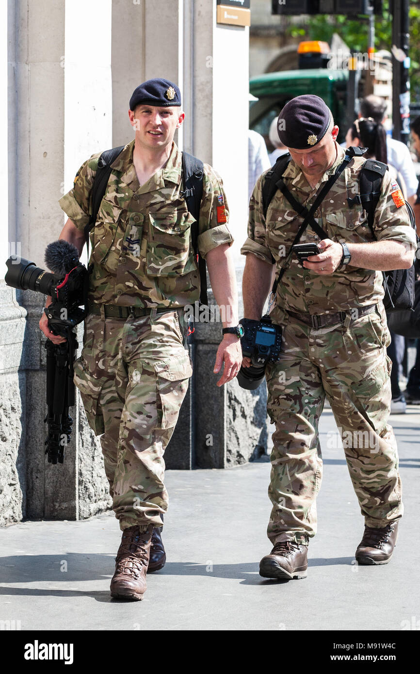 London, UK. 24th May, 2017. Army photographers on duty in Westminster covering enhanced security provisions involving the British Army. - Stock Image