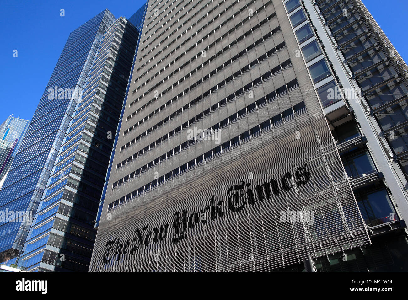 Office Building Of The New York Times In Manhattan New York City