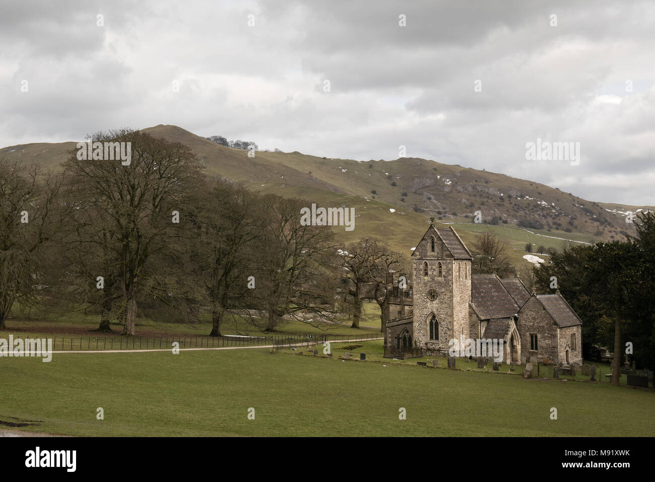 Church of the Holy Cross Peak District national park - Stock Image