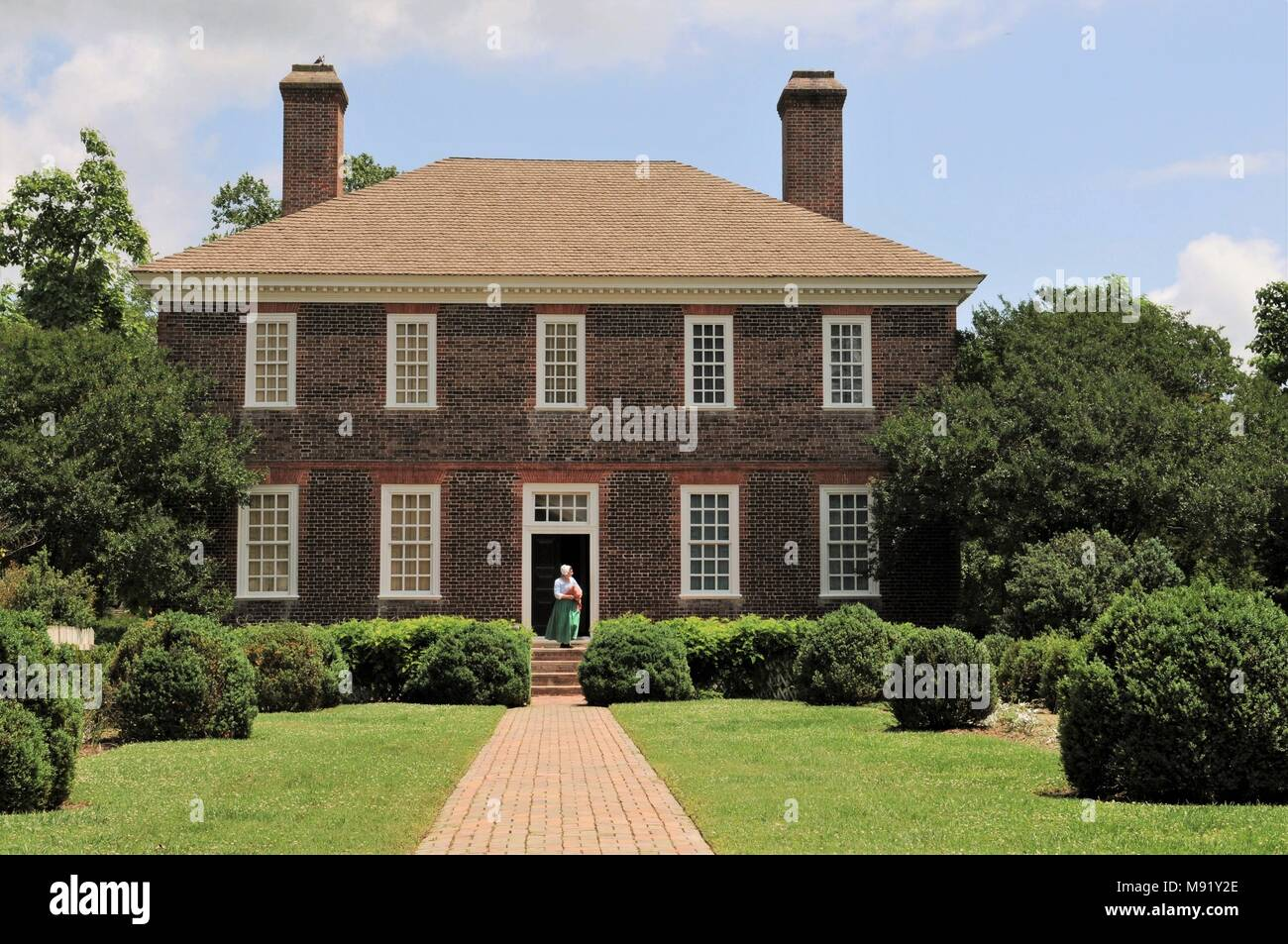 The George Wythe House in Colonial Williamsburg, Virginia. - Stock Image