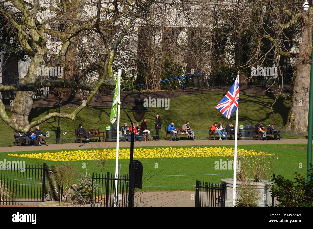 London, UK, 21 March 2018. UK Weather: Victoria Embankment Gardens ...