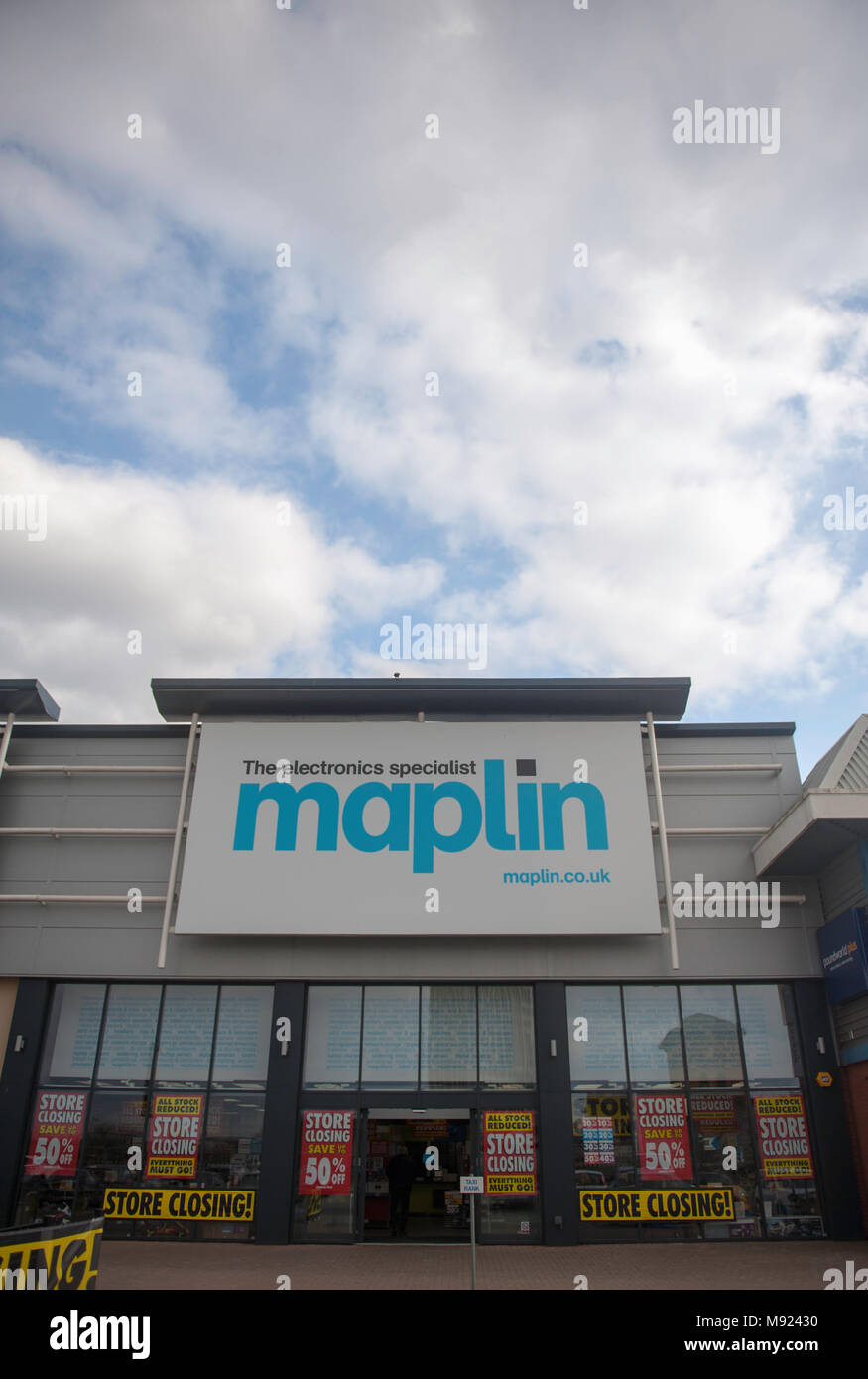 Leicester, UK. 21st March 2018. Maplin store closures and job losses. © Flab LSTR / Alamy Live News - Stock Image