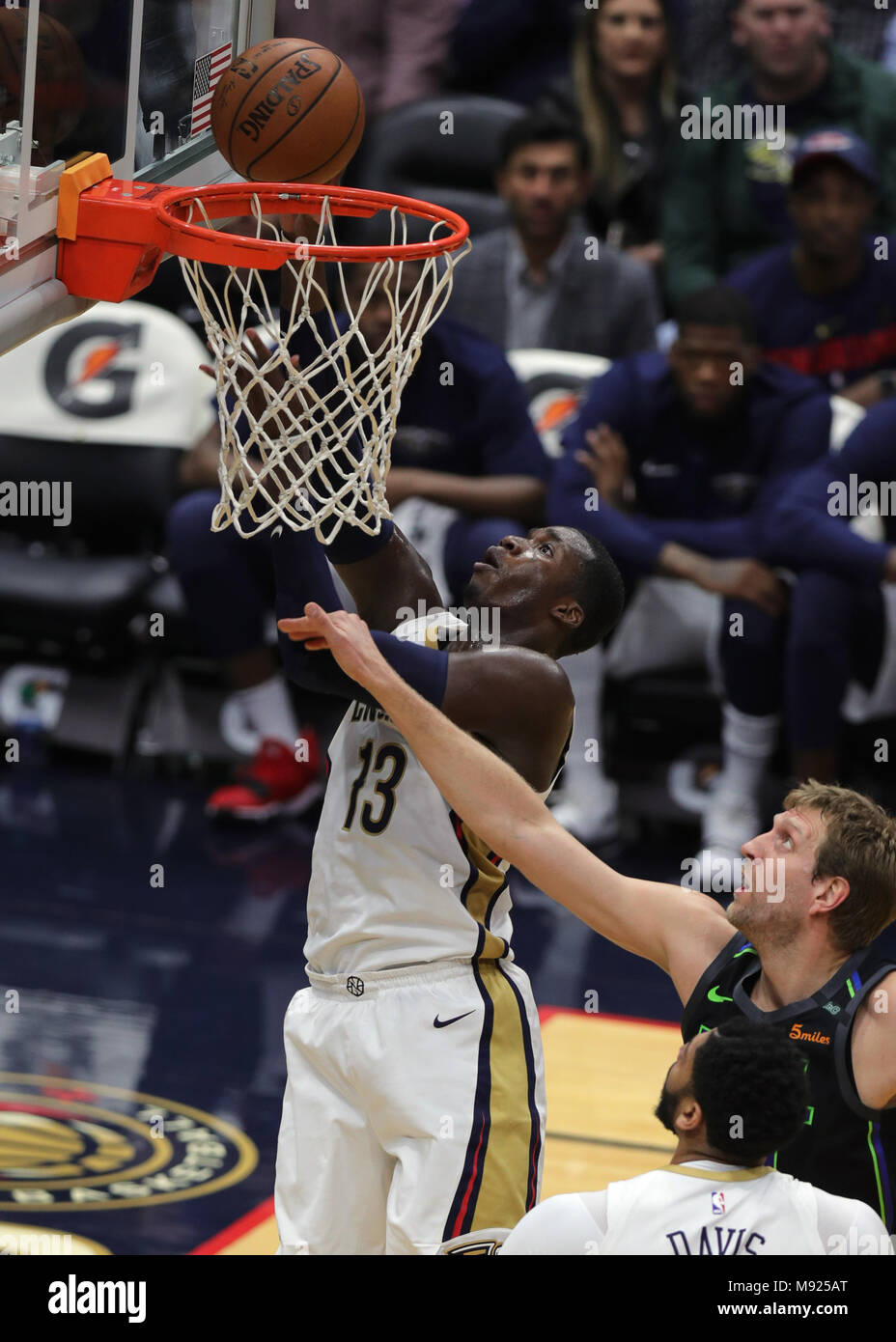 New Orleans, LA, USA  20th Mar, 2018  New Orleans Pelicans