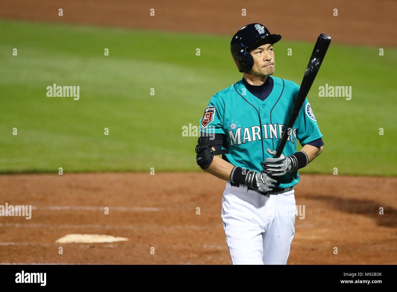 11a3c8fa5d Peoria Stadium, Arizona, USA. 21st Mar, 2018. Ichiro Suzuki (Mariners),  MARCH 21, 2018 - MLB : Ichiro Suzuki of the Seattle ...