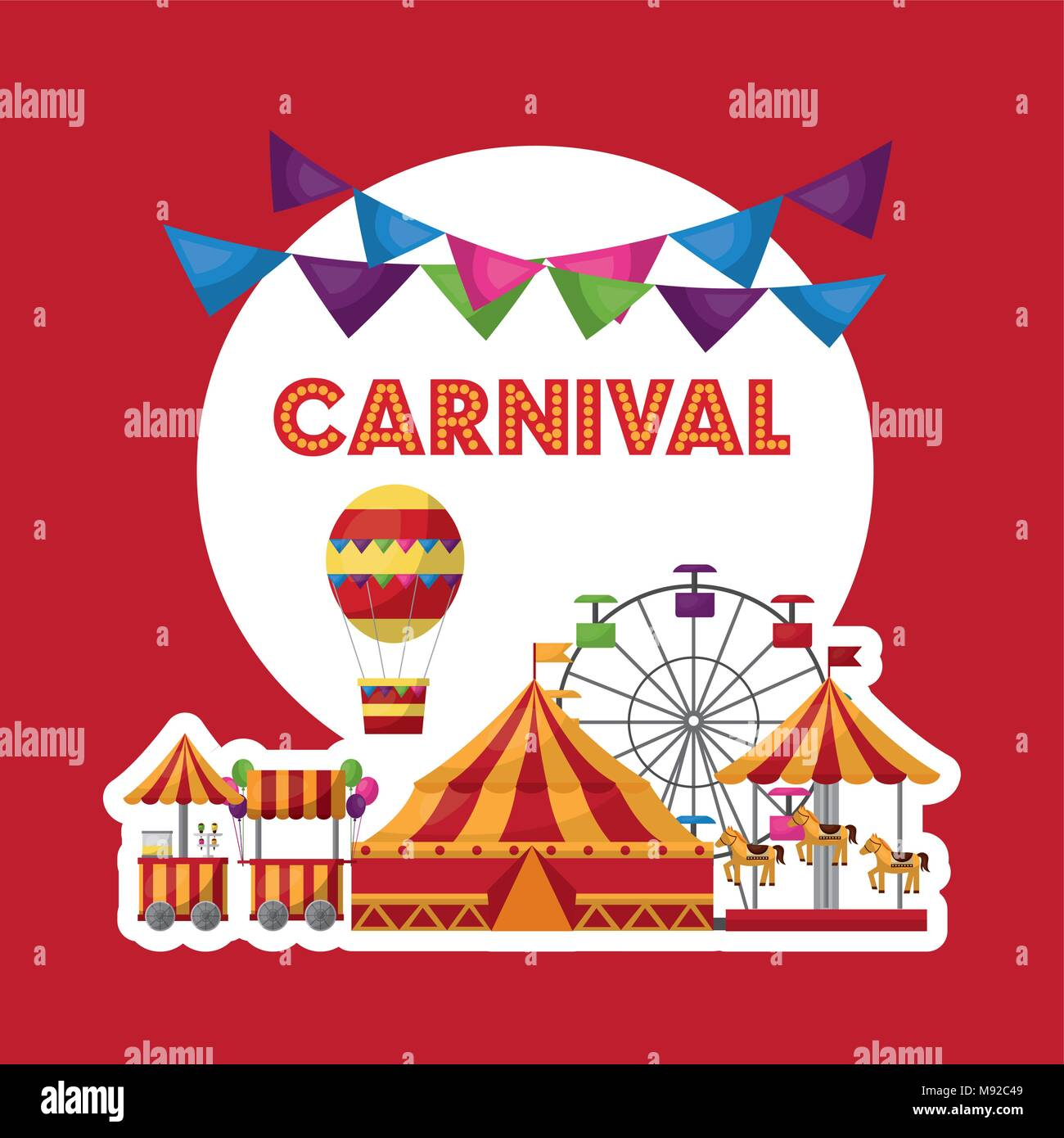 carnival  fair festival - Stock Vector