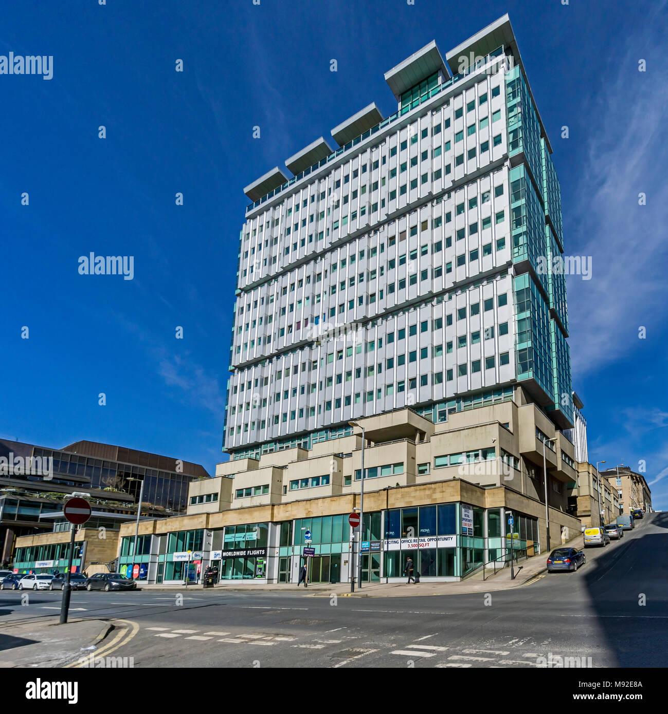 The Pinnacle Building in Bothwell Street Glasgow Scotland UK - Stock Image