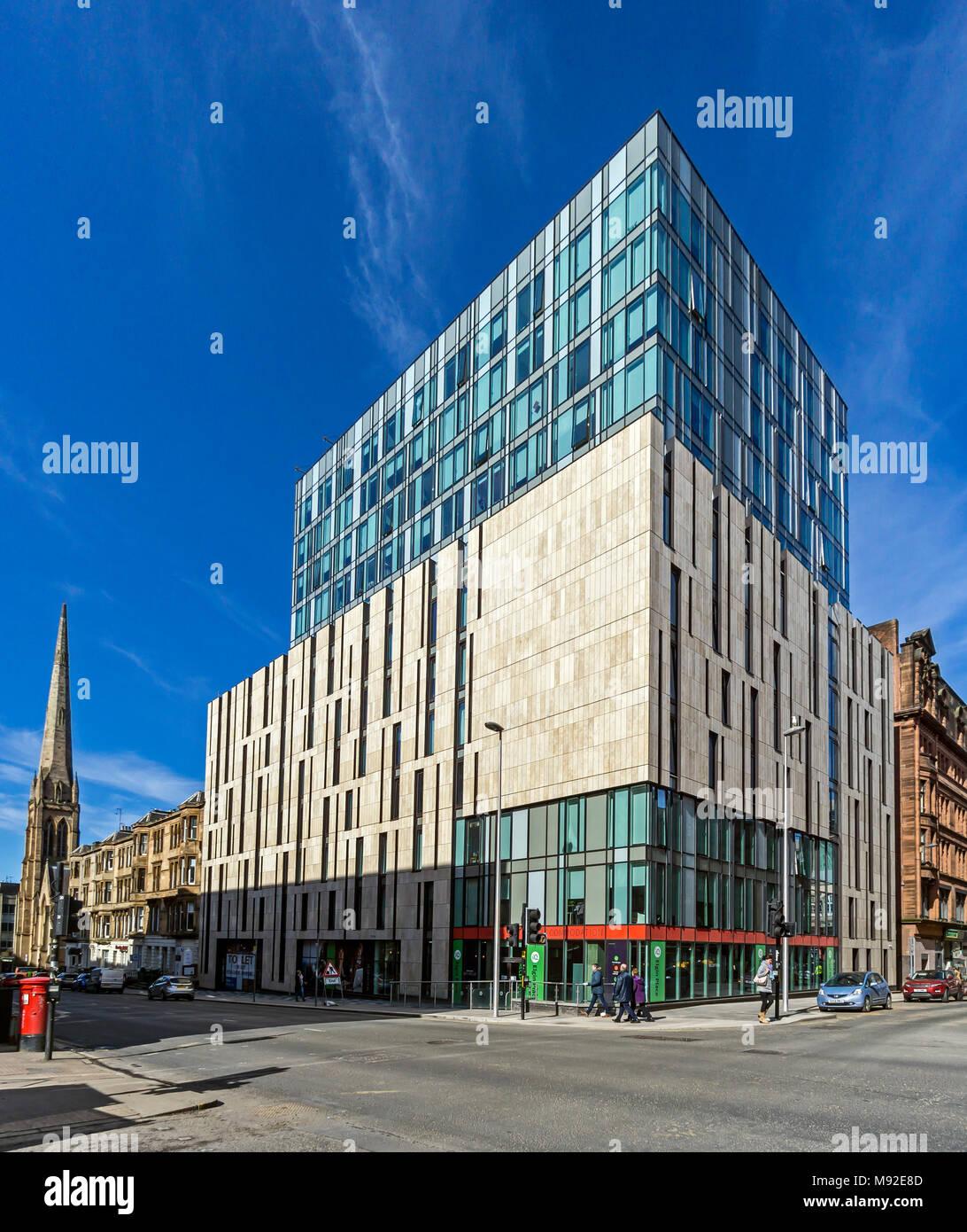IQ Student Accommodation Elgin Place Glasgow Scotland UK - Stock Image