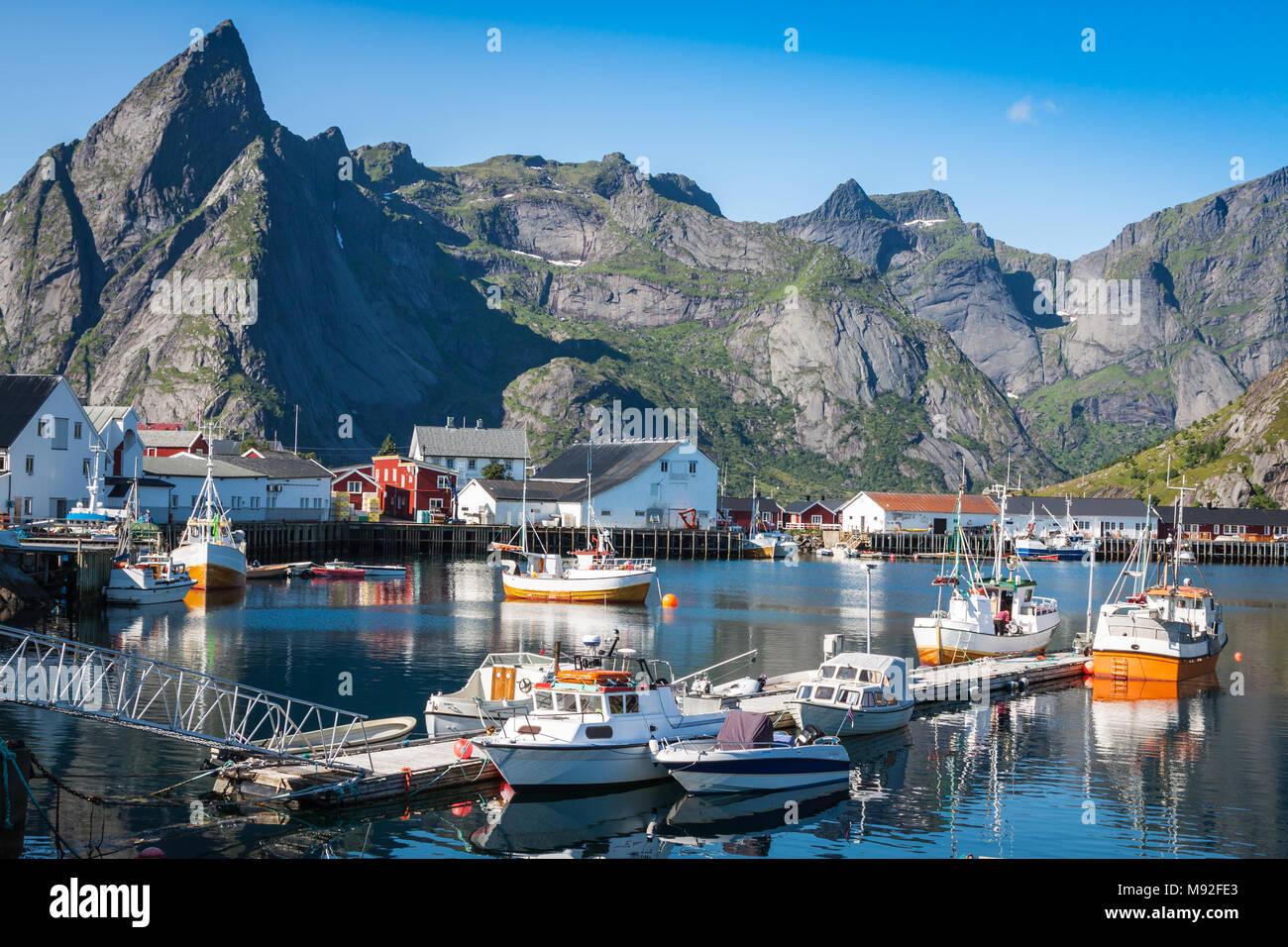 view of Lofoten archipelago bay - Stock Image