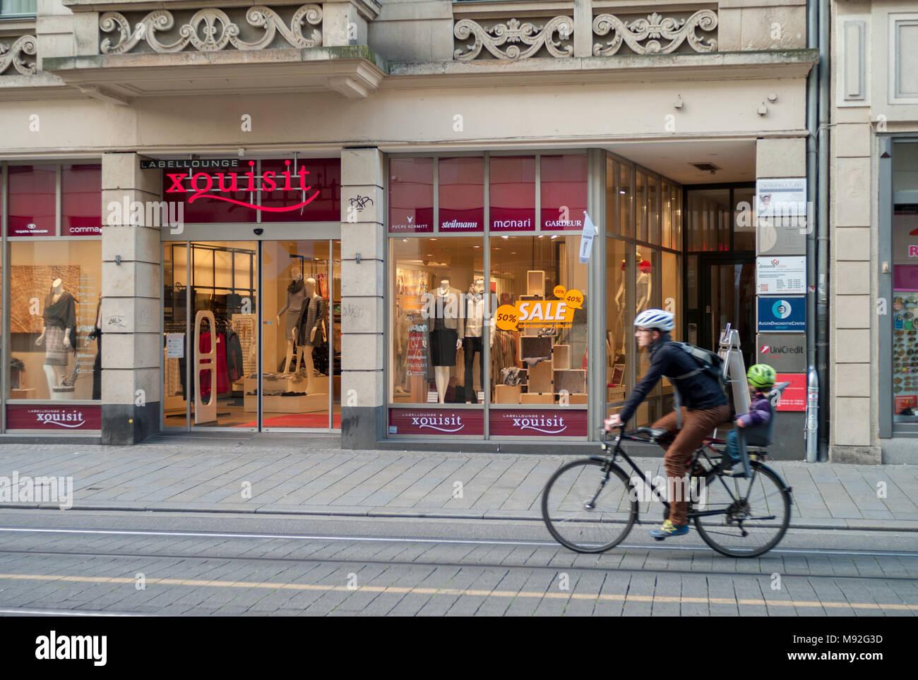 In den Straßen von Erfurt - Stock Image
