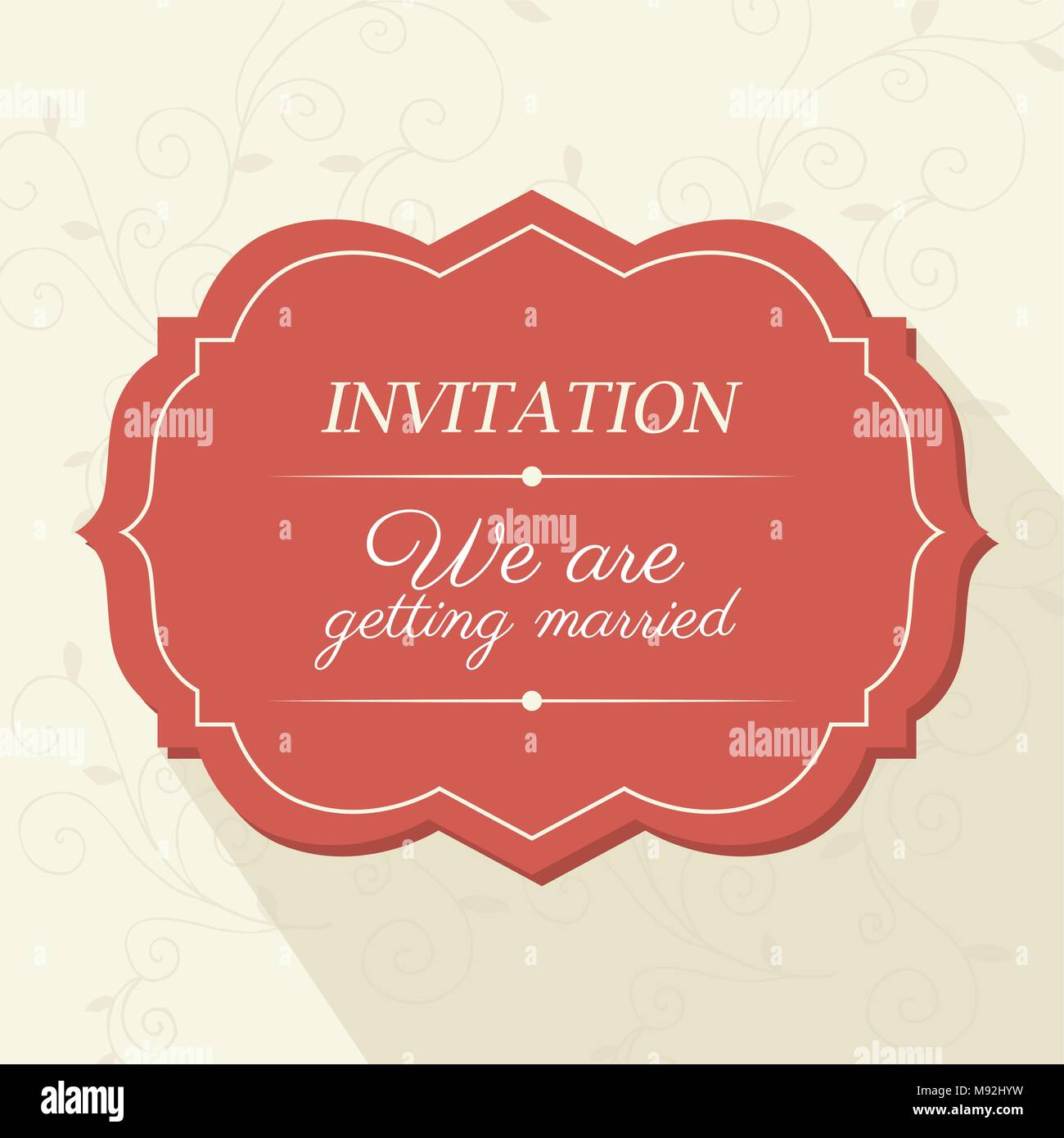 Wedding Invitation Card Cute Couple Love Married Stock Photos ...