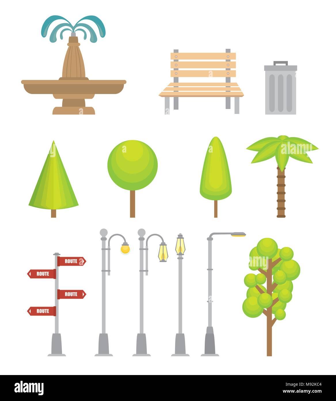 Urban icons elements - Stock Image