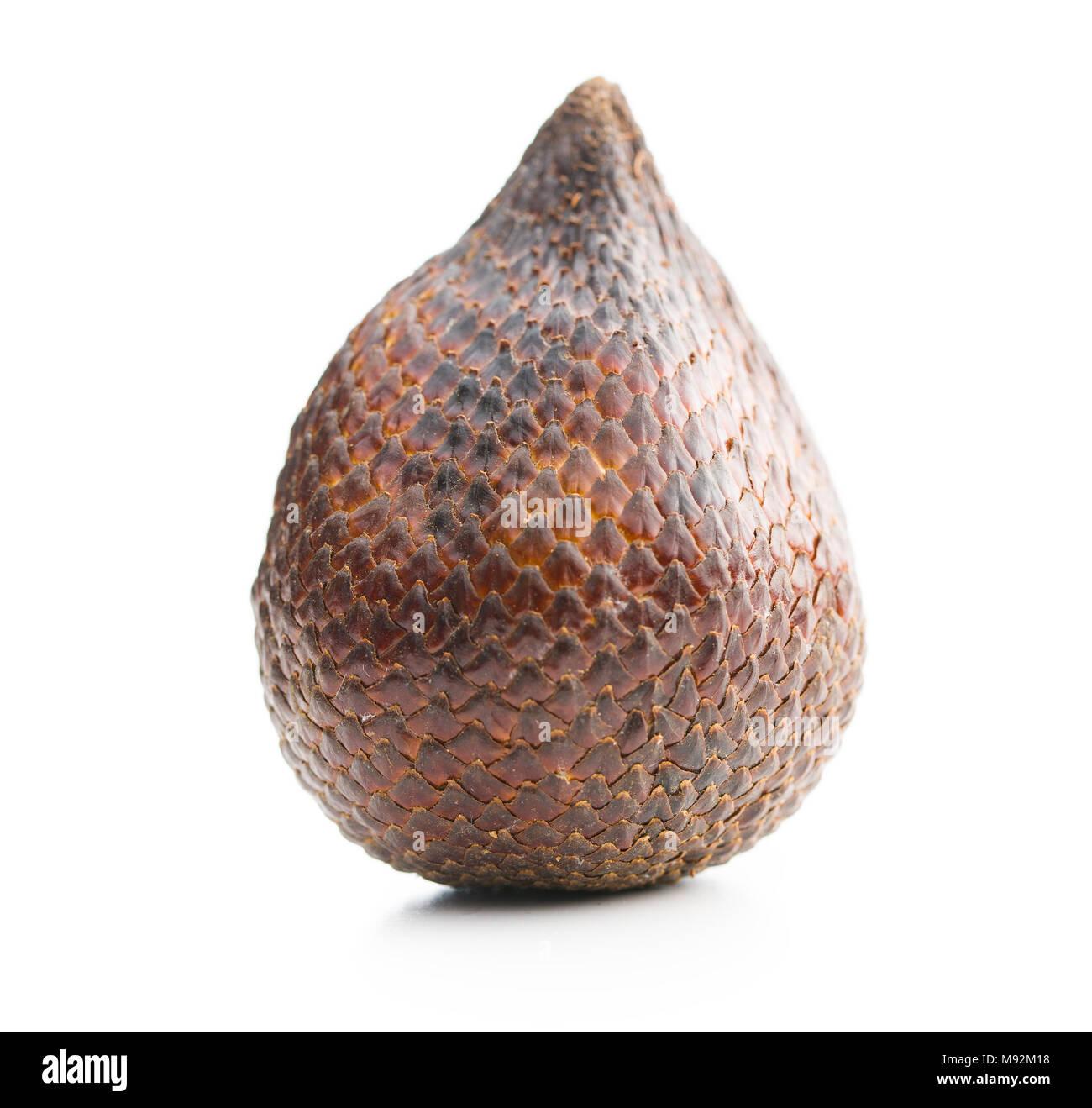Salak fruit, Salacca zalacca, snake fruit isolated on the white background. - Stock Image