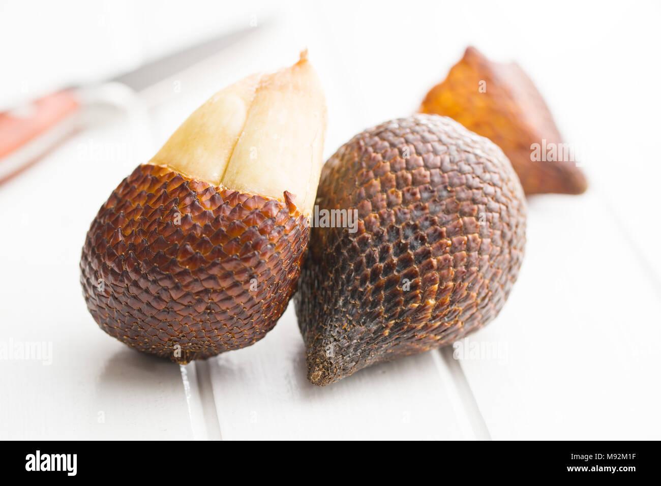 Salak fruit, Salacca zalacca, snake fruit. Tasty tropical fruit. - Stock Image