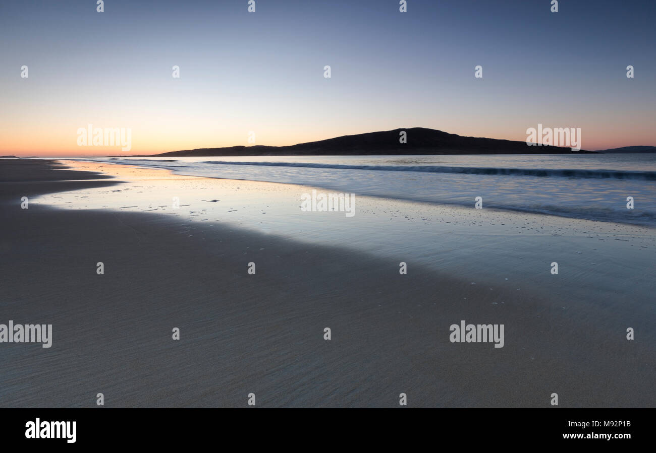 Luskentyre beach on the Isle of Harris in the Outer Hebrides. - Stock Image