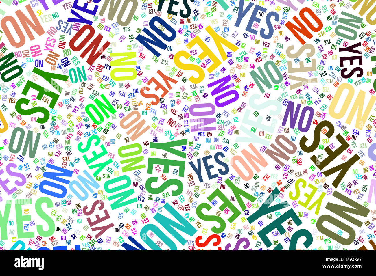 Yes or no, decision & motivation conceptual word cloud for web page, graphic design, catalog, wallpaper or background.