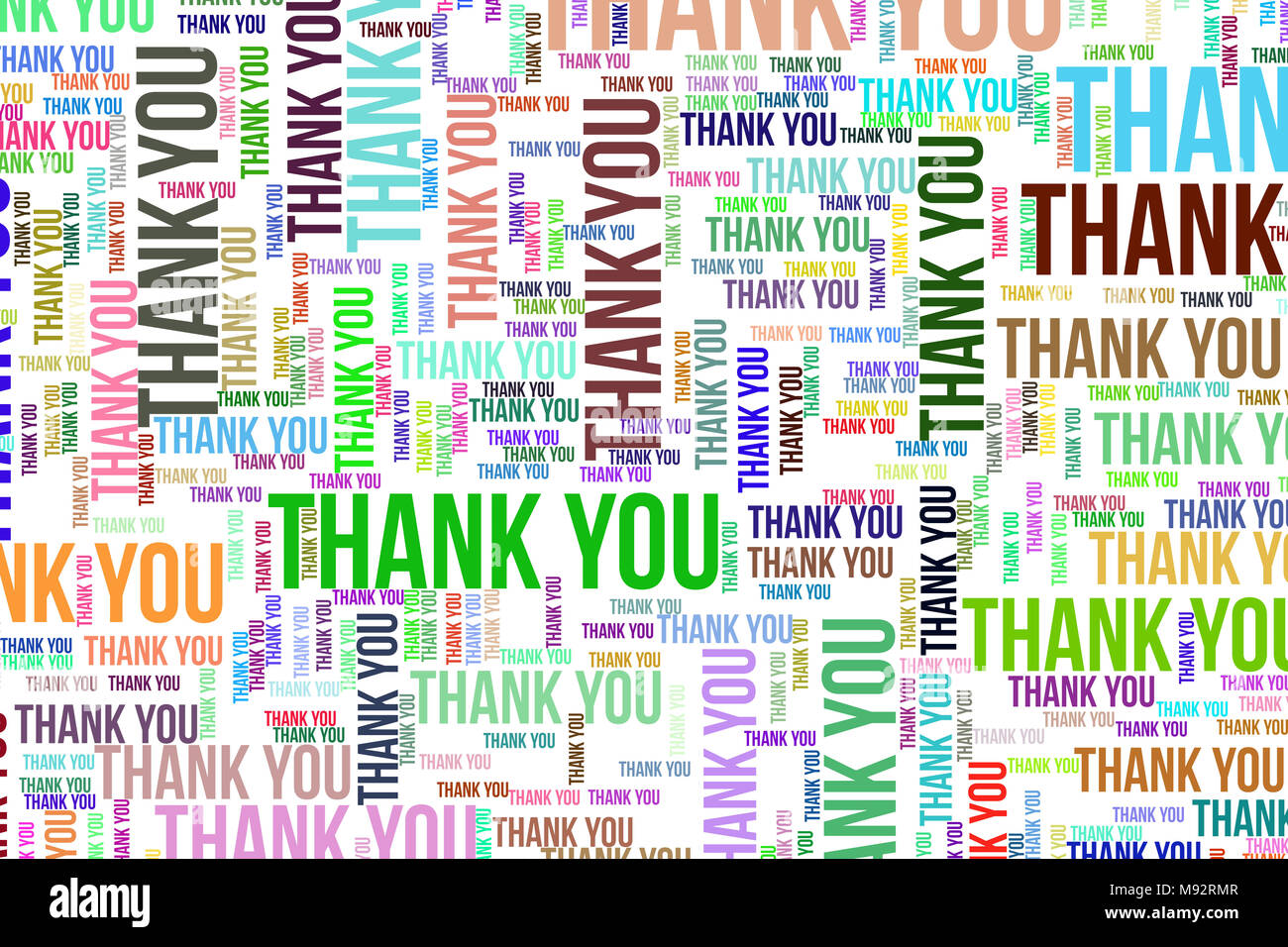Thank You, word cloud for web page, graphic design, catalog