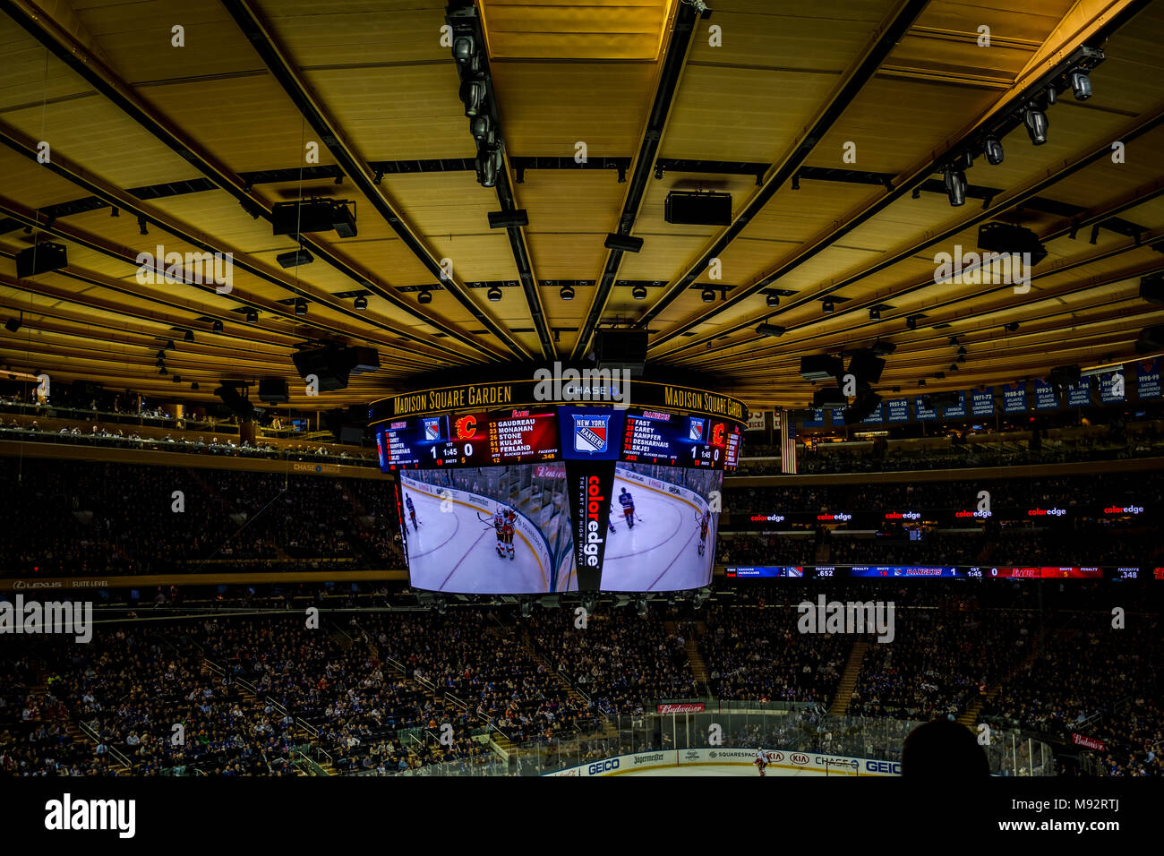 New York Rangers Hockey Team Stock Photos & New York Rangers Hockey ...