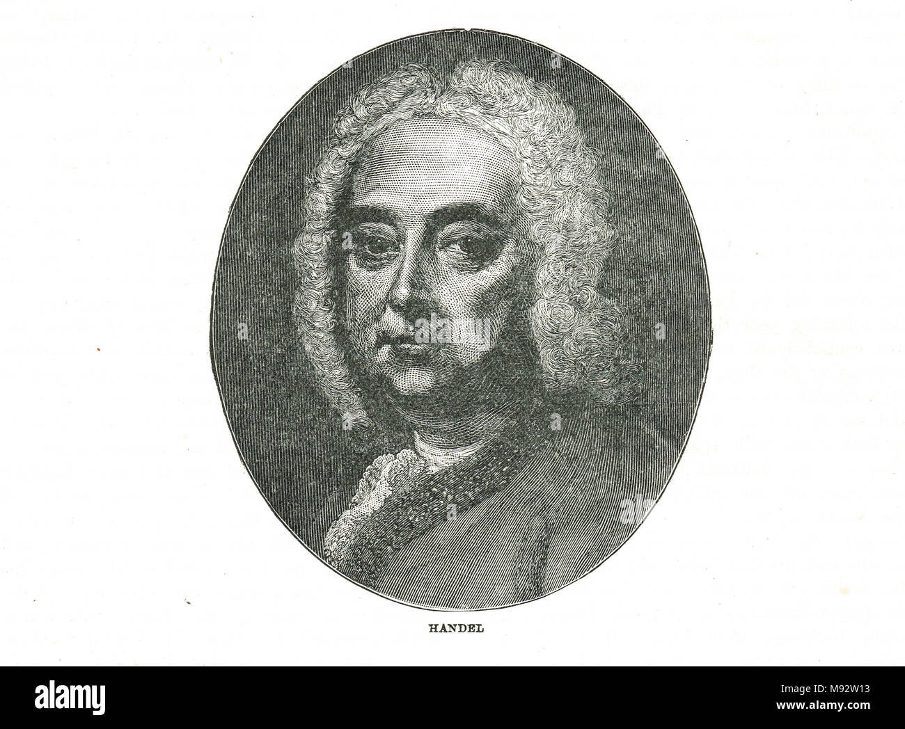George Frideric (or Frederick) Handel - Stock Image