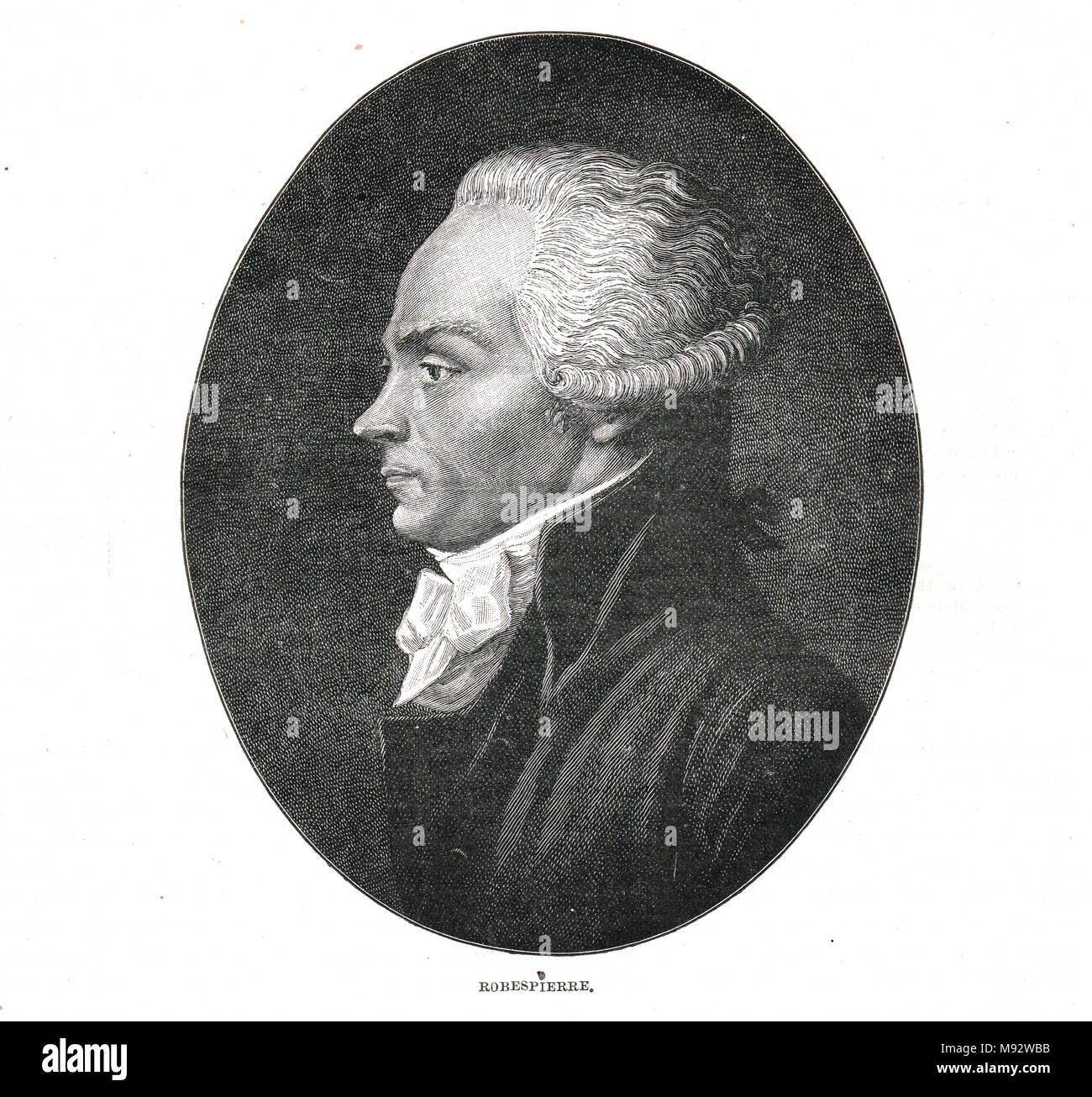 Robespierre, 1758–1794, French lawyer and politician, influential figure associated with the French Revolution, best known for his role in the Reign of Terror - Stock Image