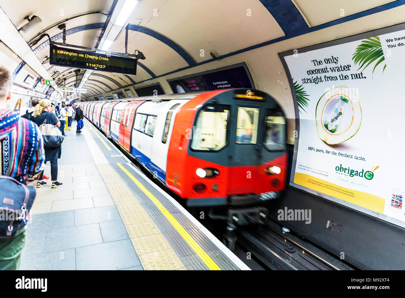 London tube train, London Underground train, London underground trains, London tube train, London tube trains, Tube underground train, London city, UK - Stock Image