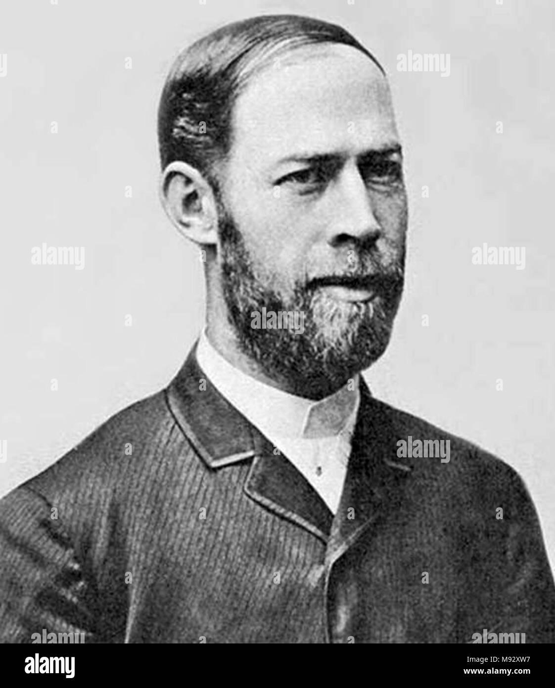 Heinrich Rudolf Hertz (1857 – 1894) German physicist - Stock Image
