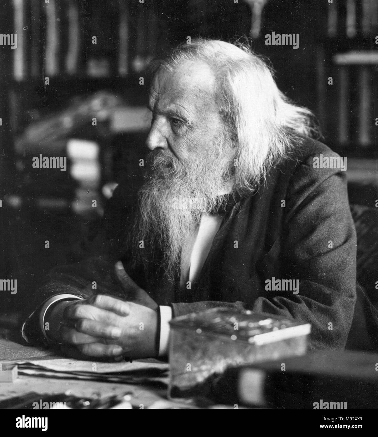 Dmitri Ivanovich Mendeleev (1834 – 1907) Russian chemist and inventor. - Stock Image