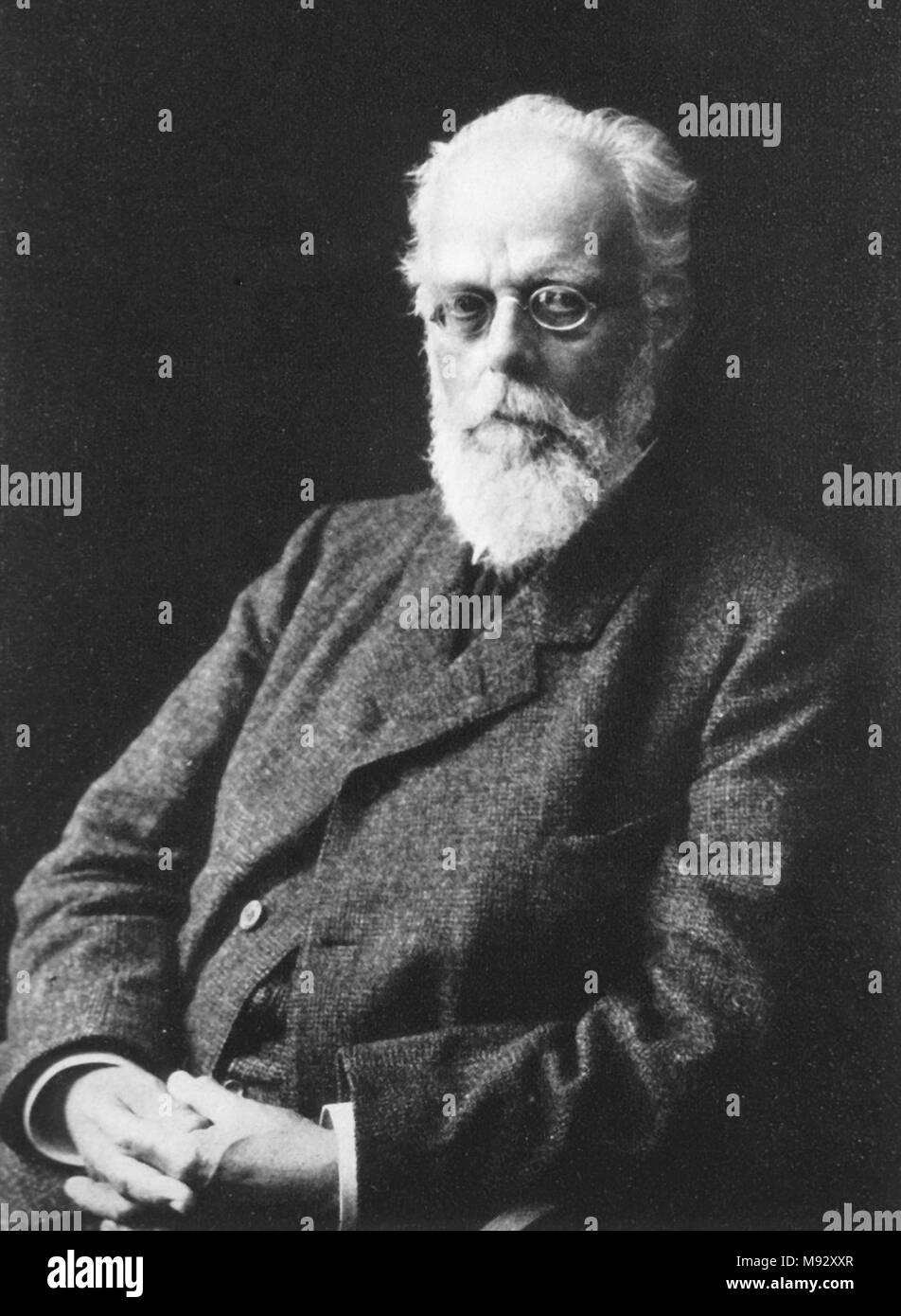 August Weismann, August Friedrich Leopold Weismann (1834 – 1914) German evolutionary biologist. - Stock Image