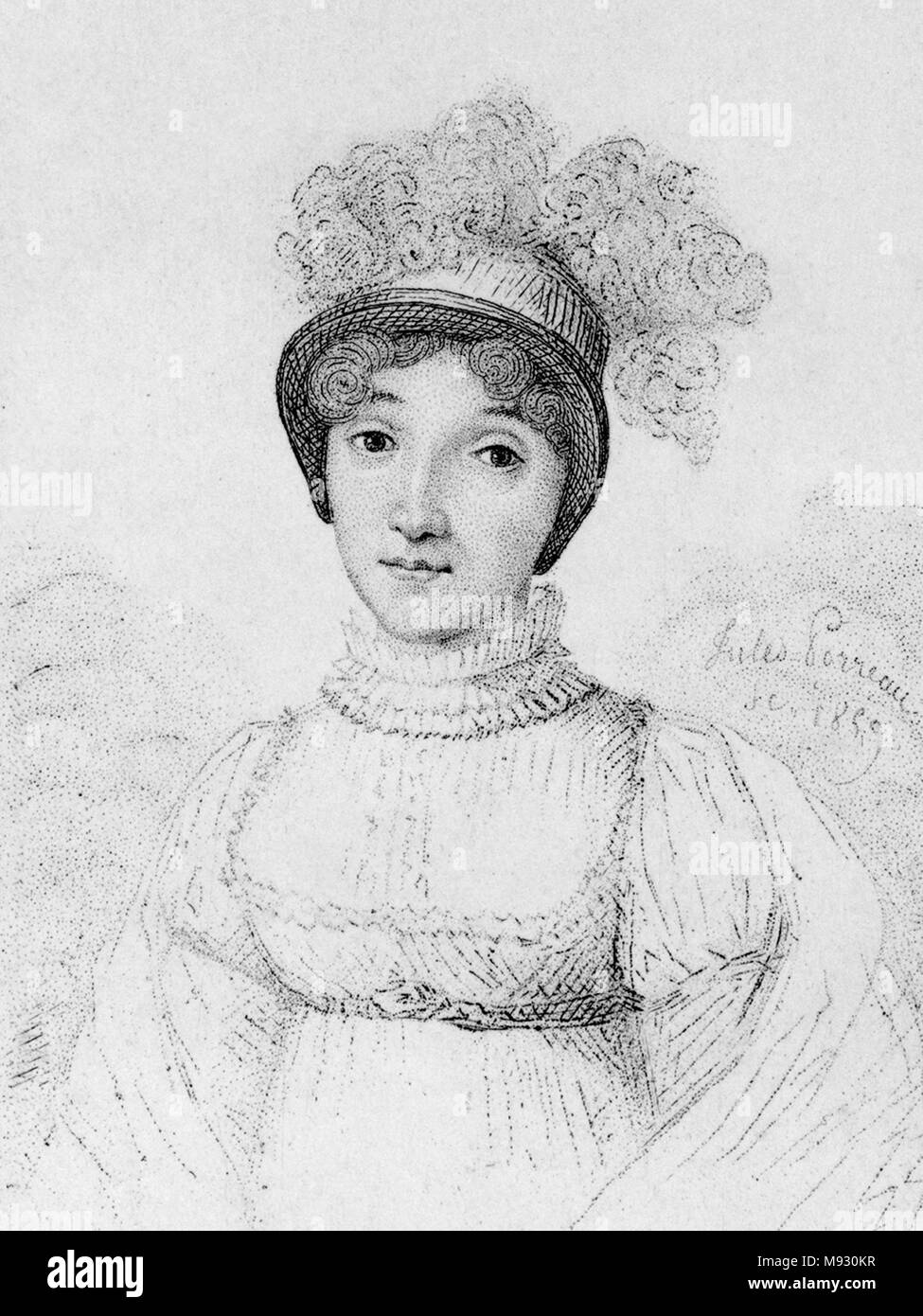 Sophie Blanchard (25 March 1778 – 6 July 1819) first woman to work as a professional balloonist, wife of ballooning pioneer Jean-Pierre Blanchard. Stock Photo