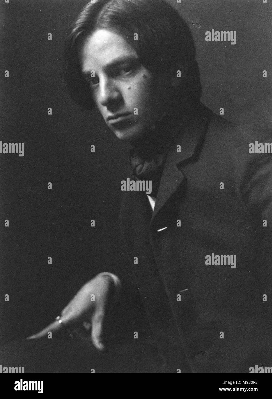 Alvin Langdon Coburn (1882-1966); Self-Portrait at Age 23 Alvin Langdon Coburn, photographer - Stock Image