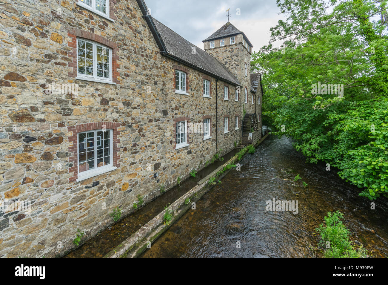 Riverside Mill, Bovey Tracy, Devon - Stock Image