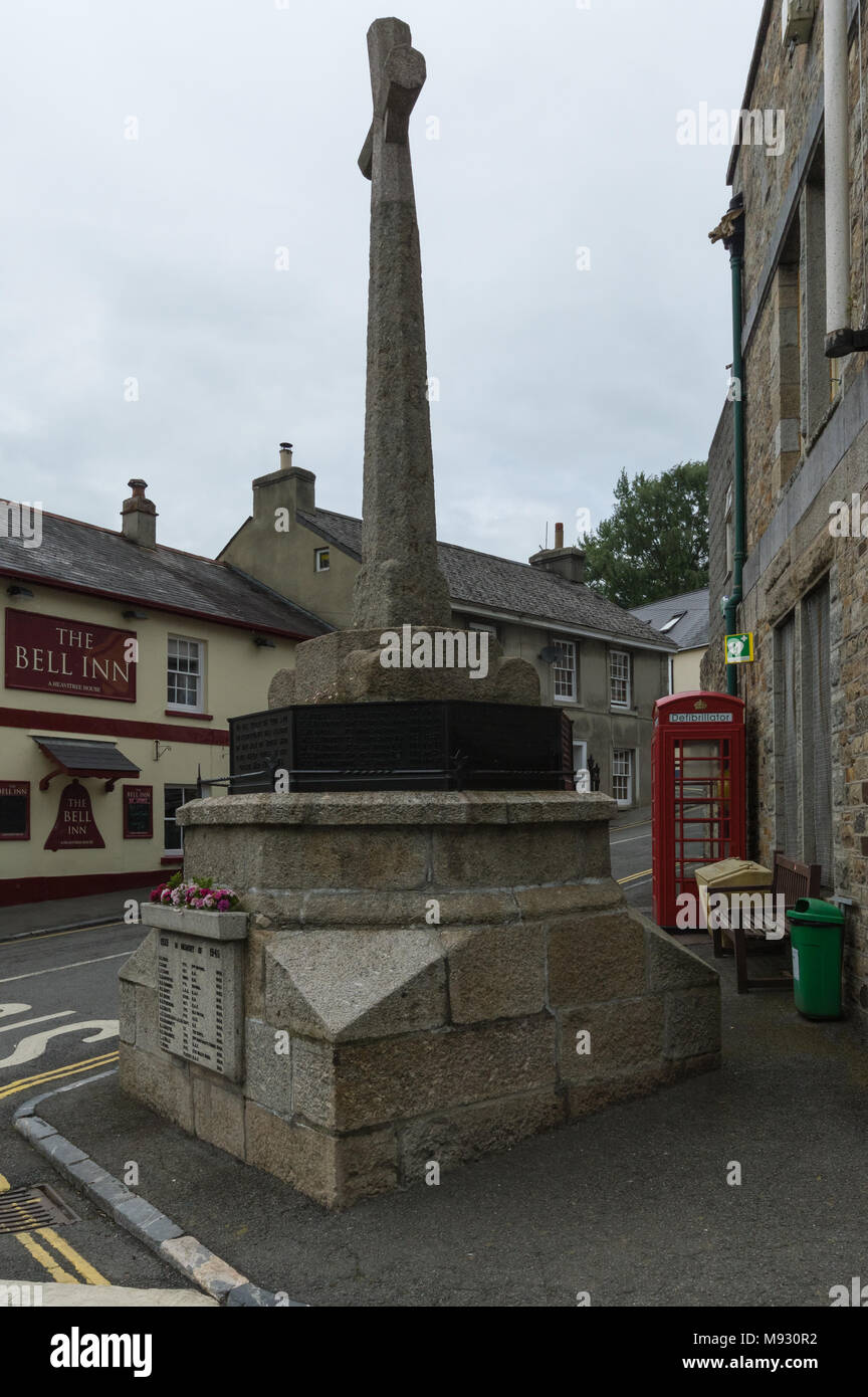 War Memorial, Bovey Tracey, Devon - Stock Image