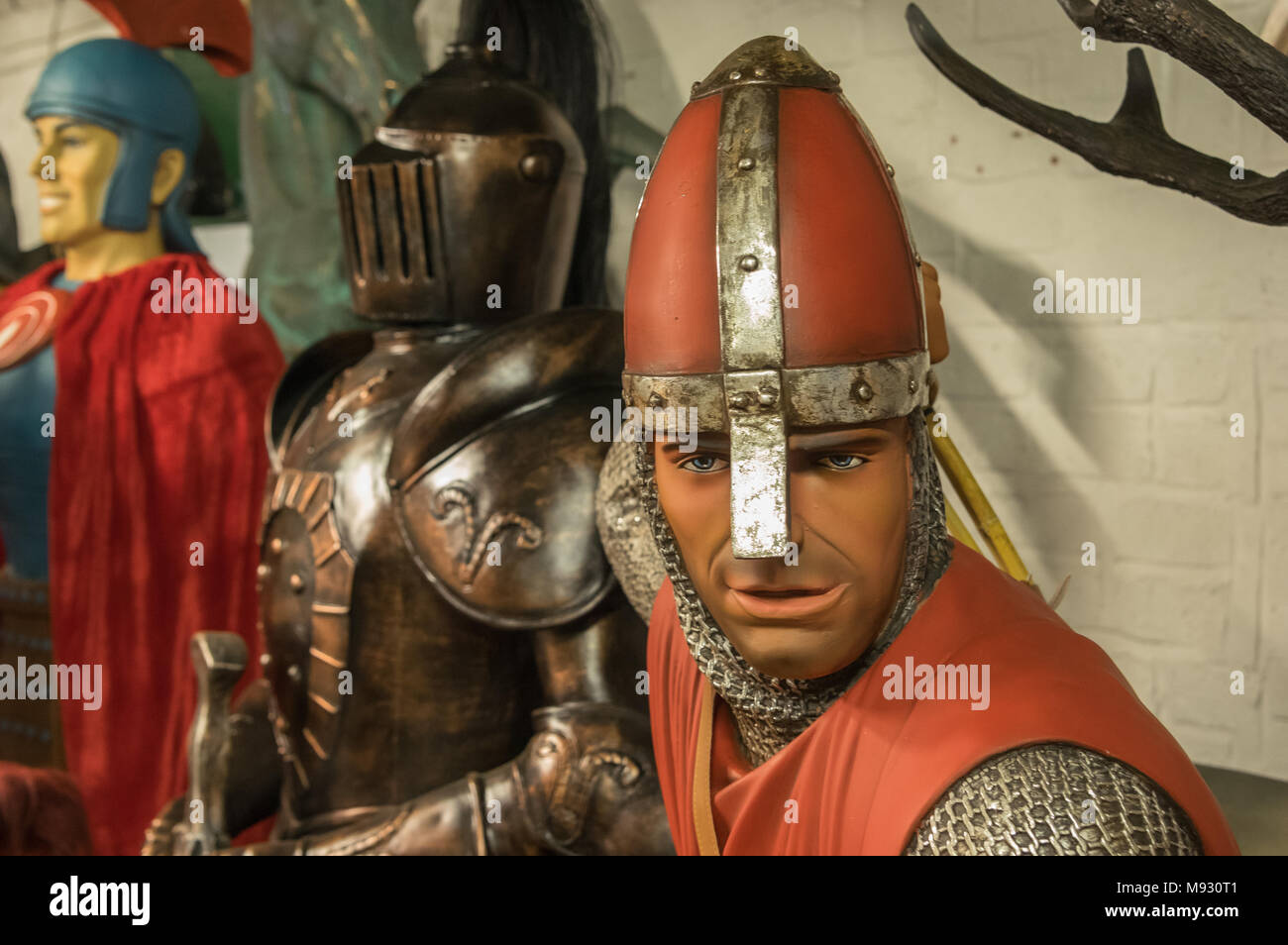 Life size models made by The Jolly Roger, Bovey Tracey, Devon - Stock Image