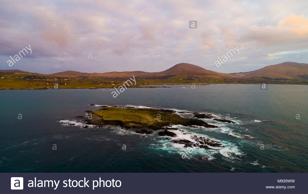 Eyeries Island in Coulagh Bay on the Beara peninsulaStock Photo