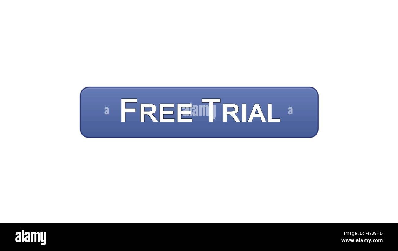 Free Trial Web Interface Button Violet Color Application Advertising Software Stock Footage Stock Photo Alamy