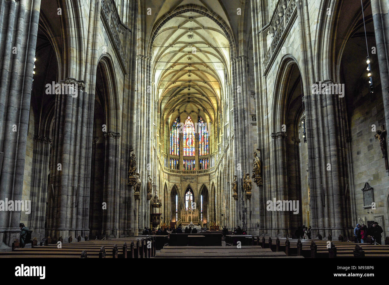 St. Vitus Cathedral, Prague Stock Photo