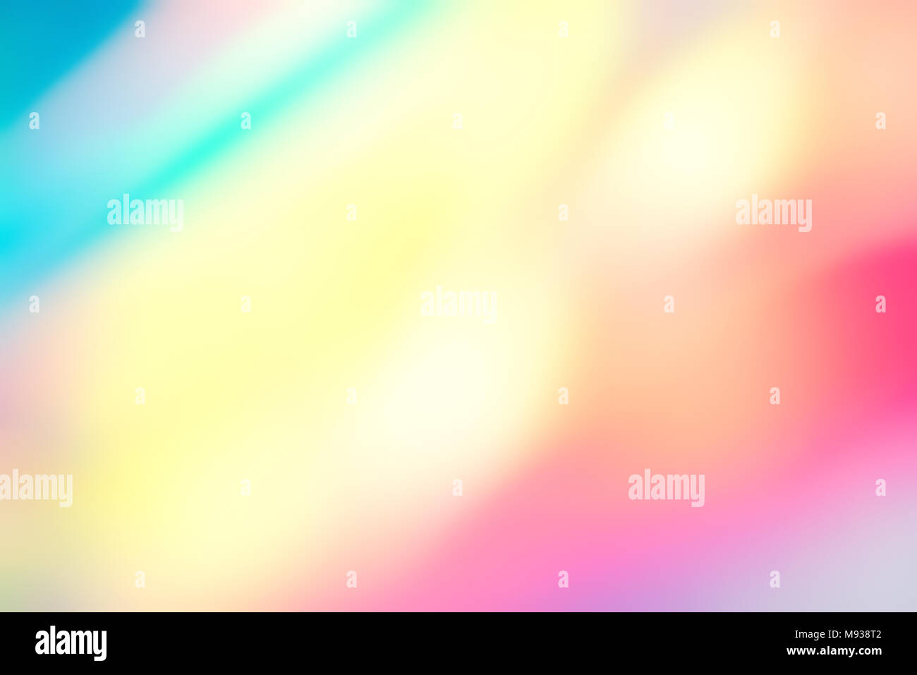 Blur holographic neon foil background. Stock Photo
