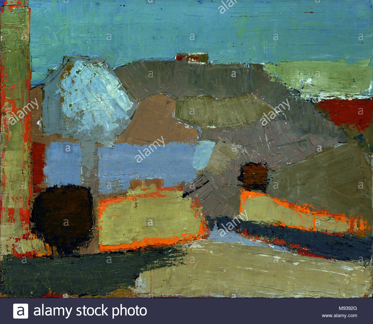 Paysage, 1953,  by Nicolas de Staël,  was a French painter of Russian origin - Stock Image