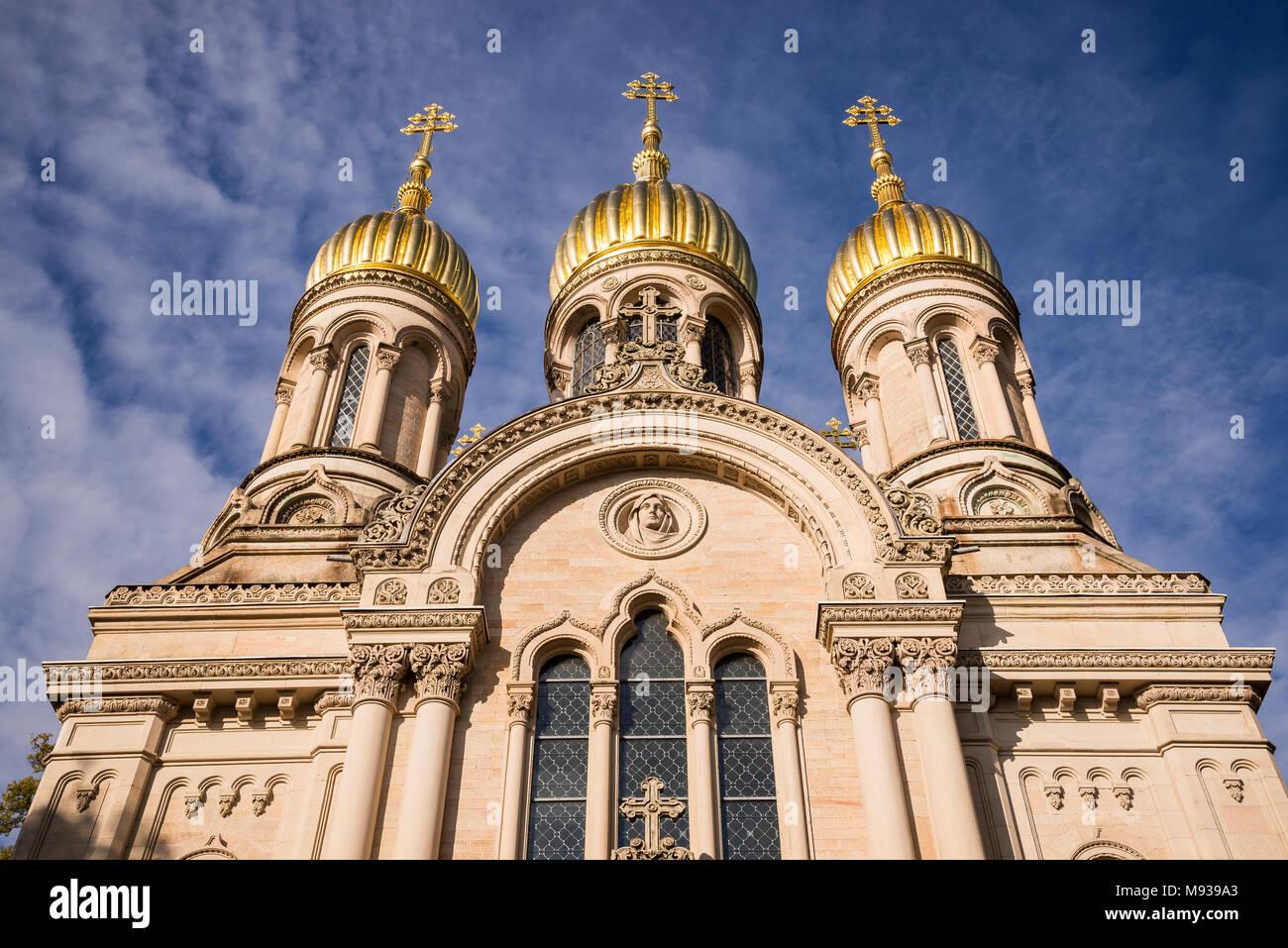 Russisch-Orthodoxe Kirche, Wiesbaden, Hessen, Deutschland Stock Photo
