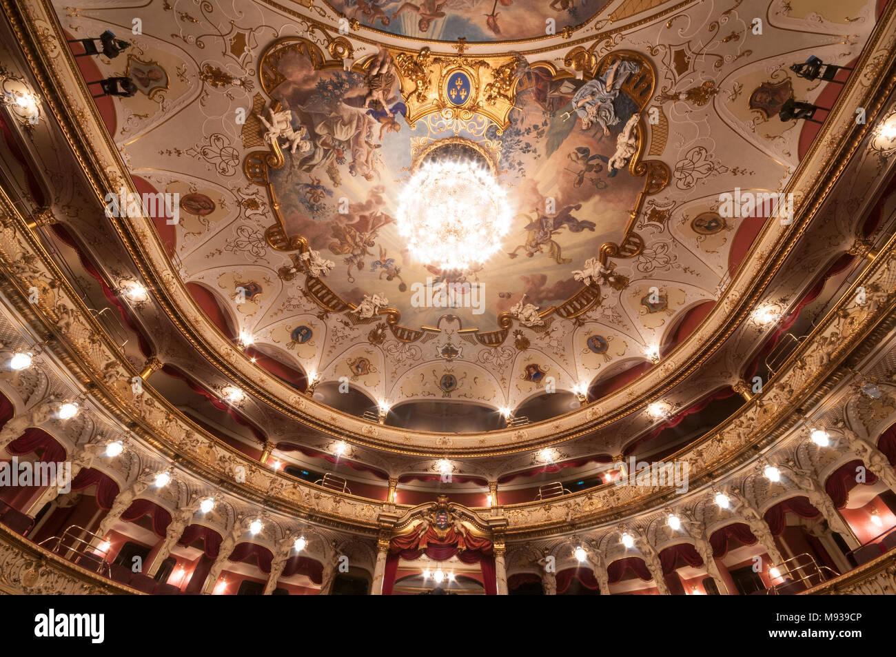 Hessisches Staatstheater, Wiesbaden, Hessen, Deutschland Stock Photo