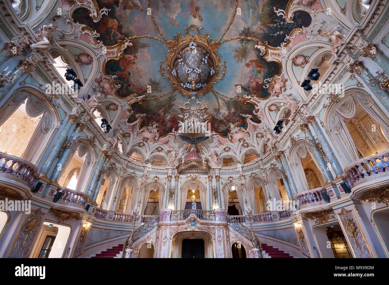 Hessisches Staatstheater, Wiesbaden, Hessen, Deutschland - Stock Image
