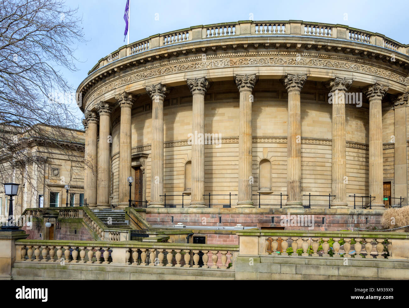 Exterior of the Picton Reading Room, Central Library,  by Cornelius Sherlock, 1879.  William Brown Street, Liverpool, England, UK - Stock Image