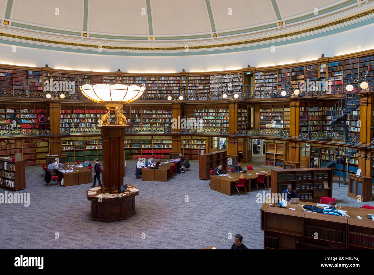 Inside the Picton Reading Room, Central Library,  by Cornelius Sherlock, 1879.  St. George's Quarter, Liverpool, England, UK - Stock Image