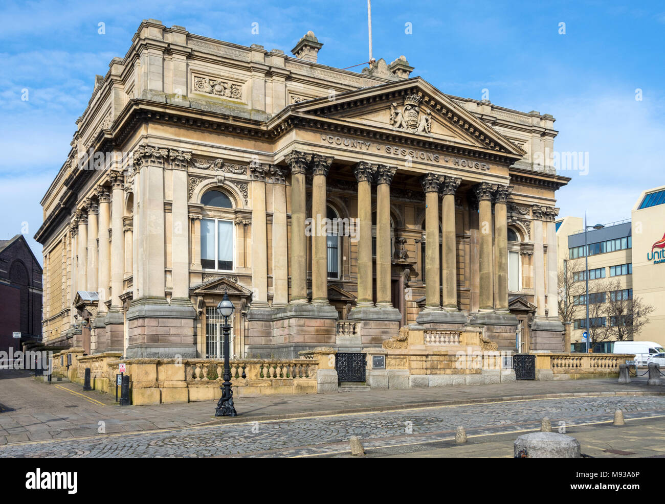The County Sessions House, William Brown Street, Liverpool, England, UK - Stock Image