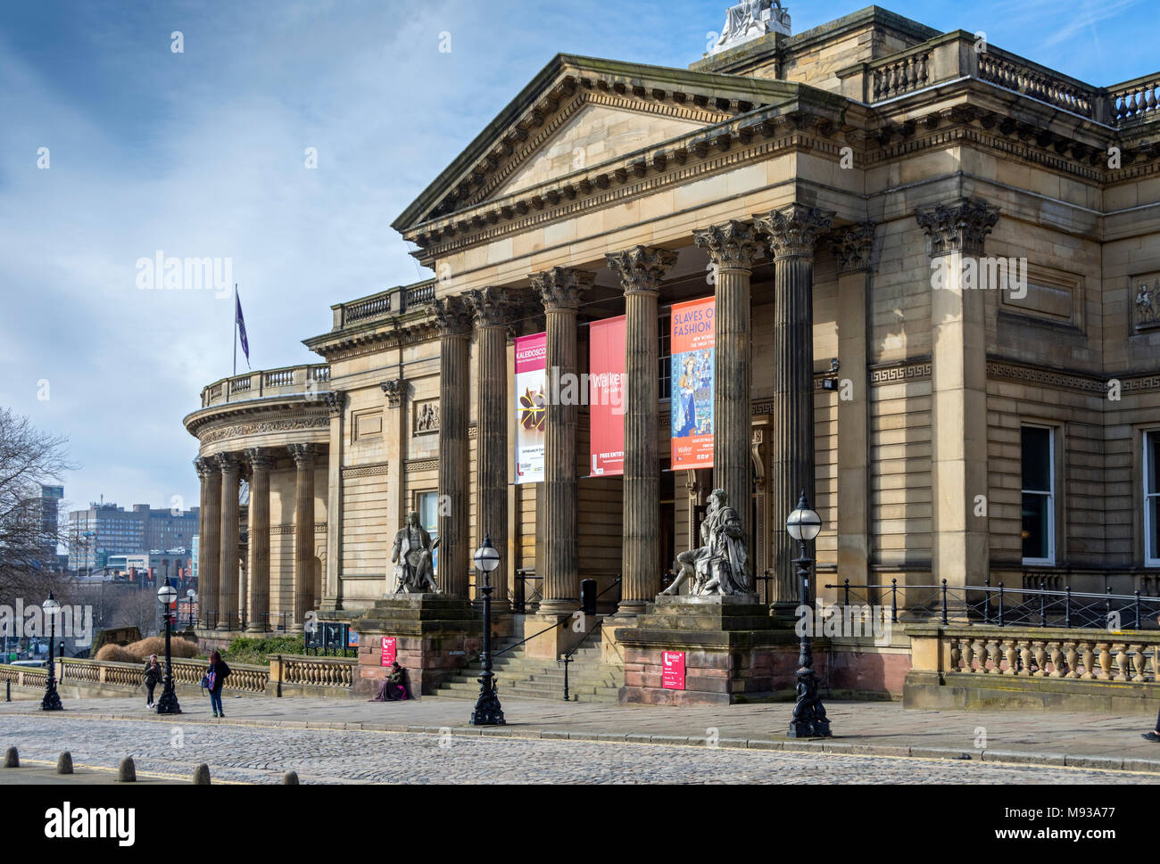 The Walker Art Gallery.   By Cornelius Sherlock and H. H. Vale, 1877.  William Brown Street, Liverpool, England, UK - Stock Image