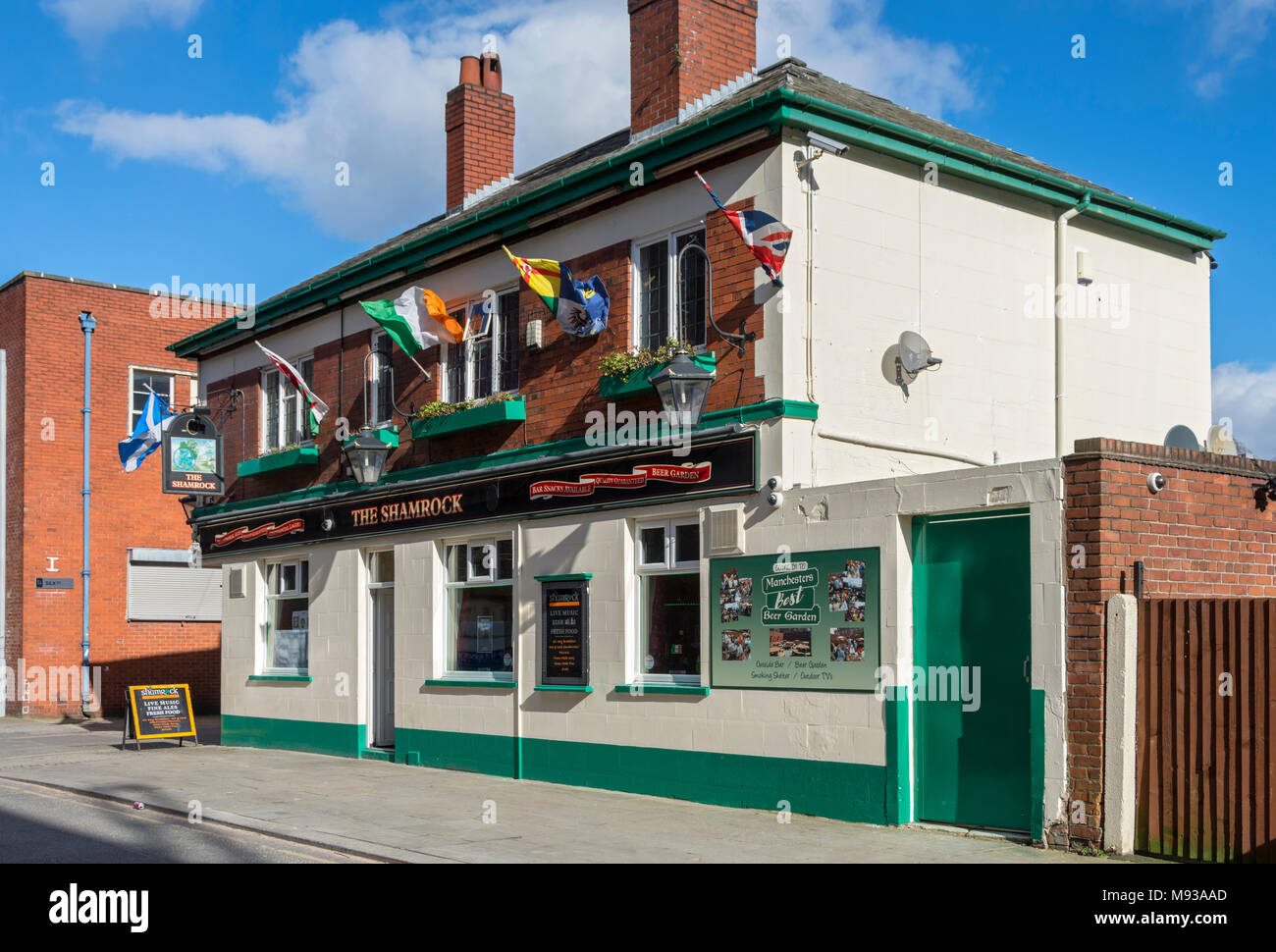 The Shamrock public house, Ancoats, Manchester, England, UK - Stock Image
