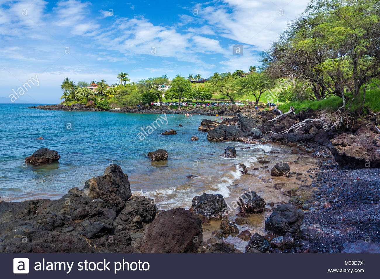 Out of the way Makena Landing Beach Park on the island of Maui in the state of Hawaii USA - Stock Image