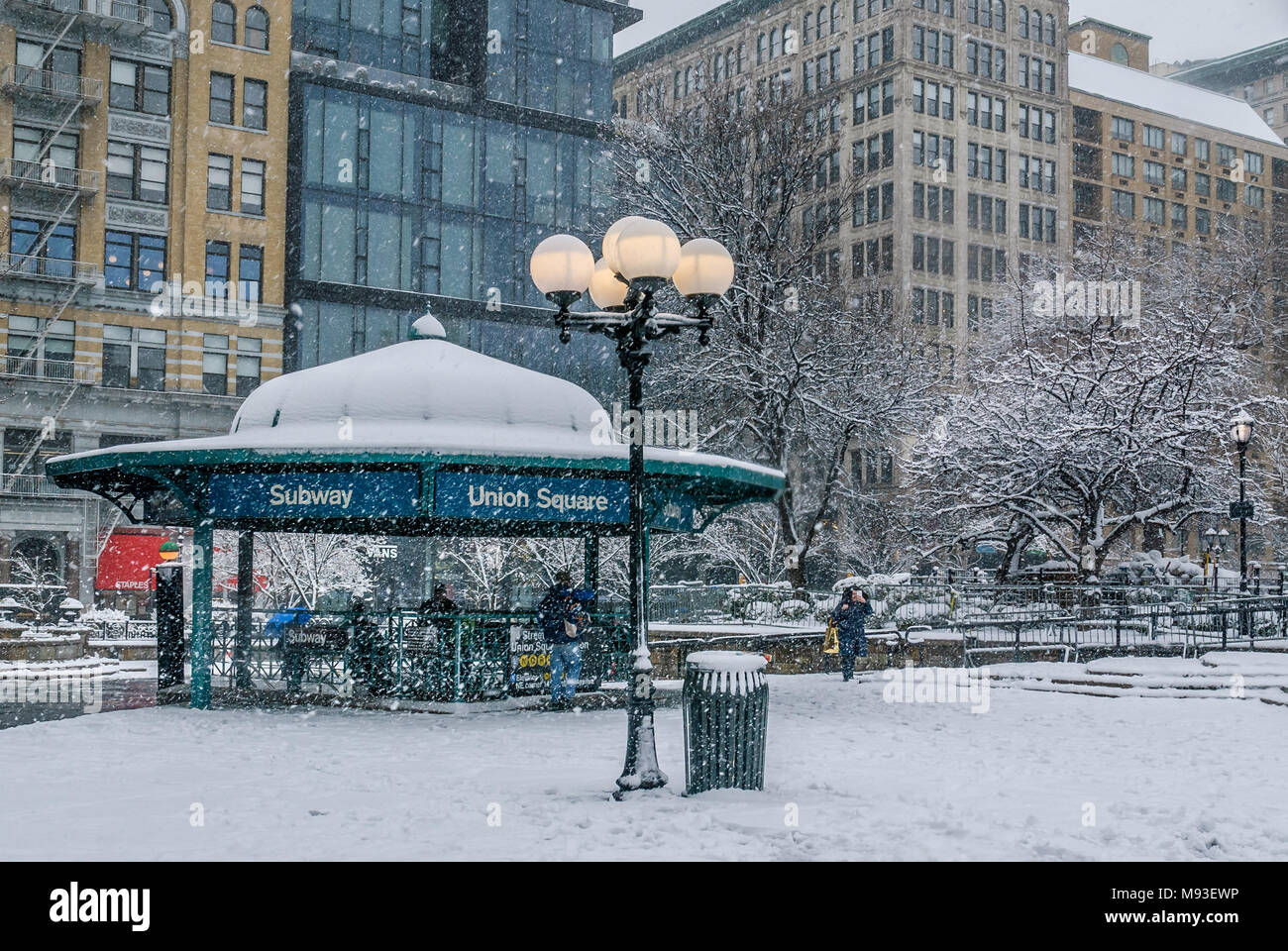 New York, USA  21st March, 2018  Union Square during the