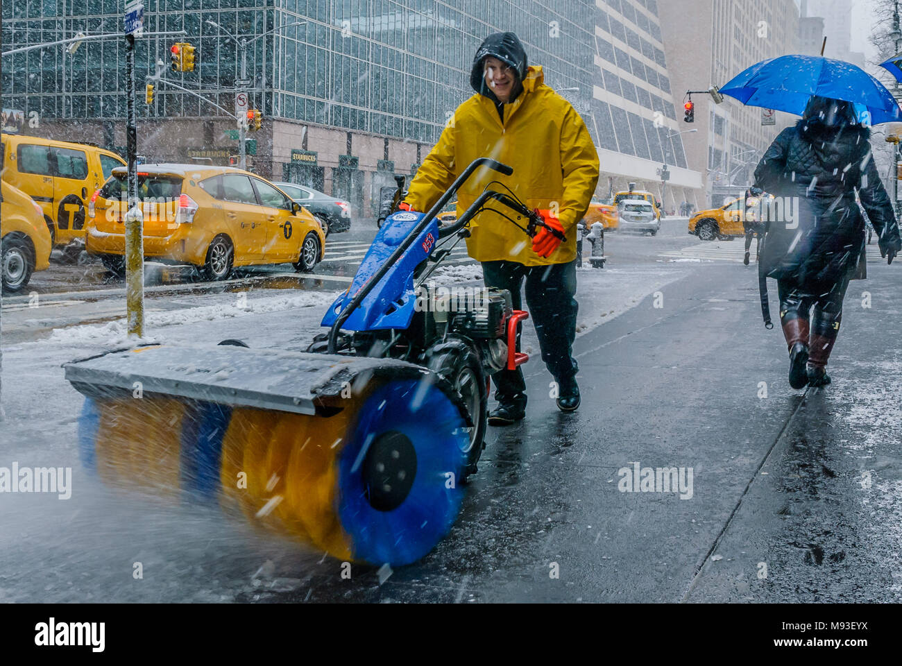 New York, USA  21st March, 2018  Times Square during the