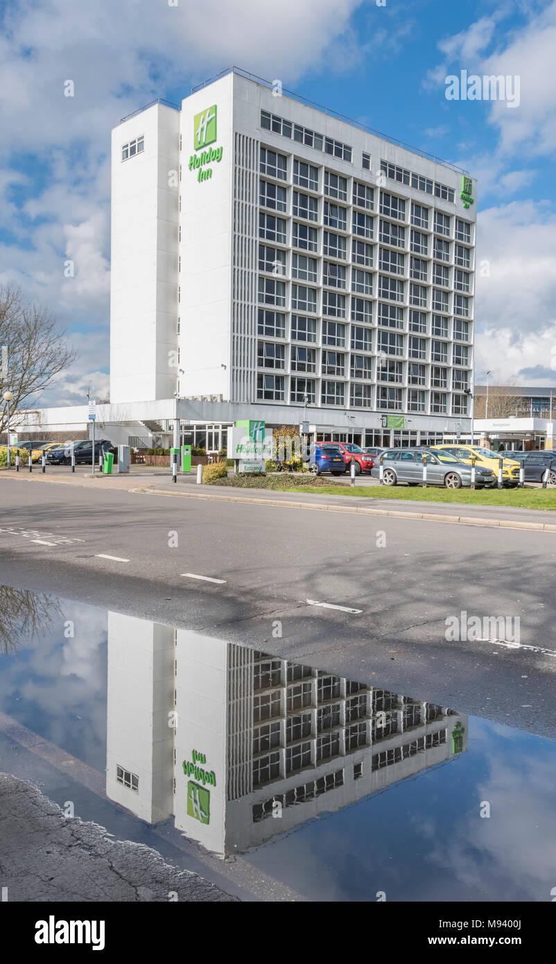 Holiday Inn multi storey hotel in Southampton, Hampshire, England, UK. - Stock Image